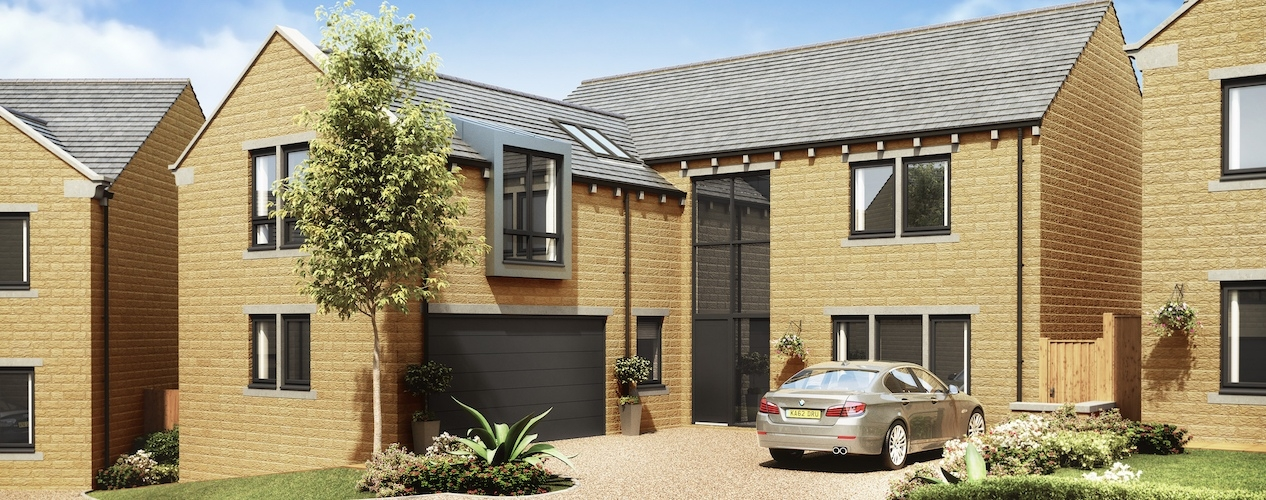 CGI of the new homes in Stocksmoor
