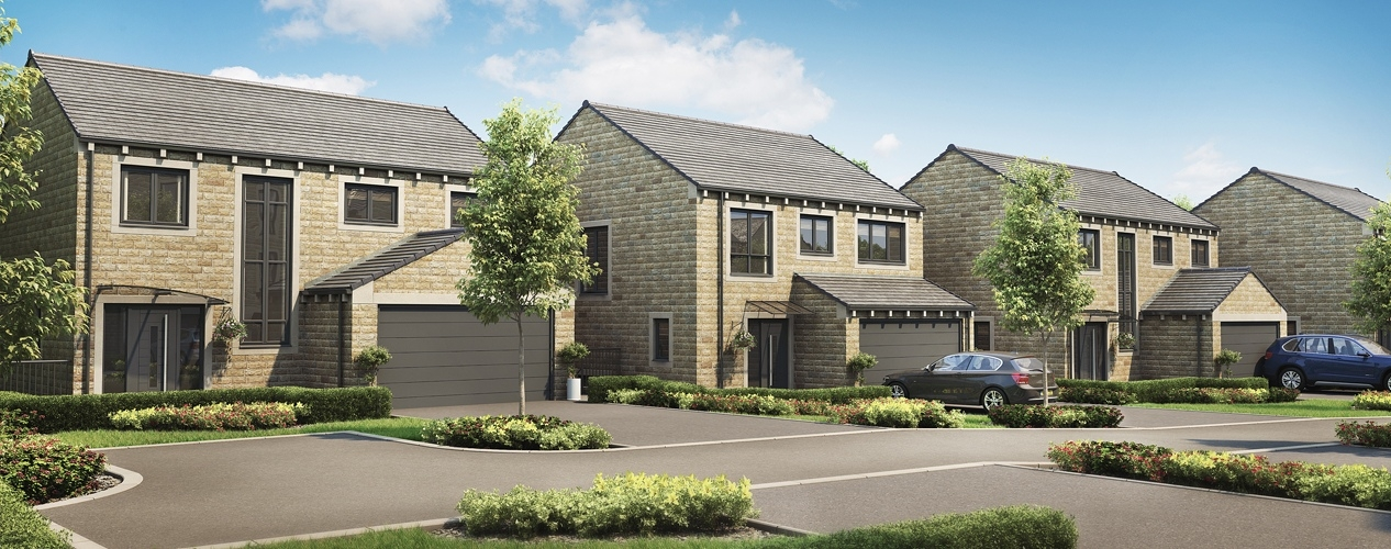 CGI of new homes from Conroy Brook in Upperthong