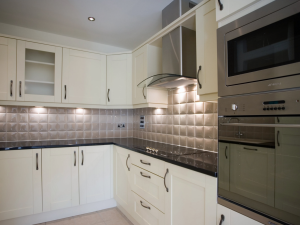 Kitchen in one of the retirement apartments at Holme Valley Court