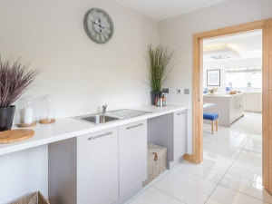 Contemporary utility room at Stocksmead