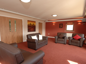 Communal living area at Rowan Court