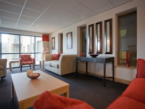 The communal area at Holme Valley Court.