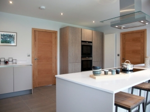 Contemporary integrated kitchen at Swaine Meadow