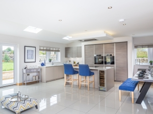 Dining kitchen with garden view in Stocksmoor