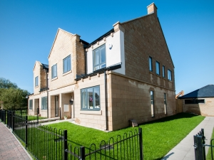 Exterior shot of the new townhouses at The Chase, Harrogate