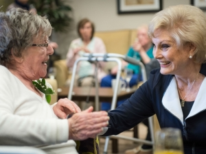 Angela Rippon officially opened Augustus Court care centre.