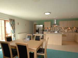 Each level at Rowan Court has a fully fitted kitchen and dining area