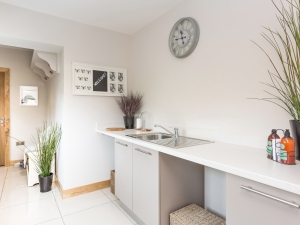 Contemporary mudroom / utility at Stocksmead, Stocksmoor