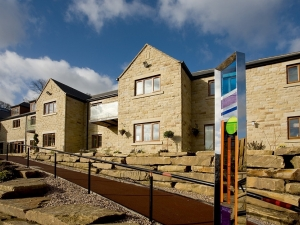 Holme Valley Court retirement complex in Holmfirth.