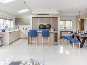 Spacious kitchen and dining room at Stocksmead