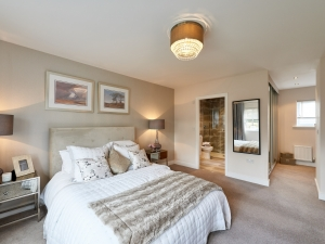 Master bedroom with ensuite bathroom at Stocksmead, Stocksmoor