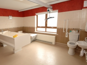 Each bathroom is fully adapted for the needs of the residents.