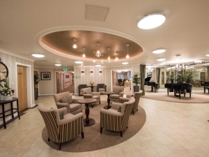 The ground floor hub where residents can sit and socialise or just relax.