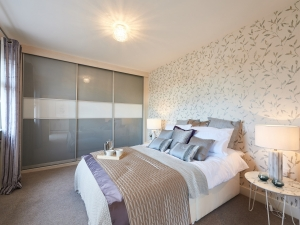 Double bedroom with fitted wardrobes