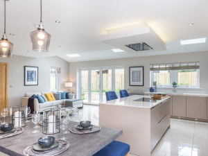 Spacious dining kitchen and living area at Stocksmead