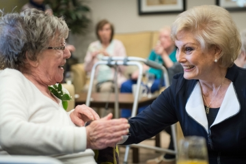 Angela Rippon opens Augustus Court Care Home - built by Conroy Brook