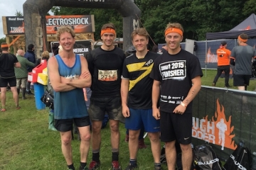 Team from housebuilder Conroy Brook take on the Tough Mudder challenge.