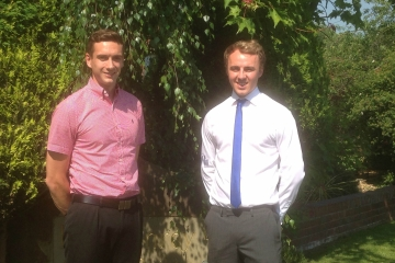 Tom Charlesworth, graduate trainee QS with Andy Battye, QS for Conroy Brook