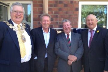 Denis Law officially opens The Oakes Care Centre