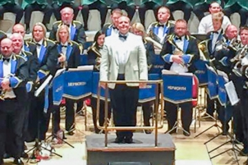 Conroy Brook new sponsor for Holme Valley brass band