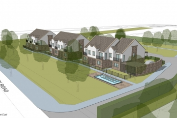 CGI of new homes coming soon to Harrogate.