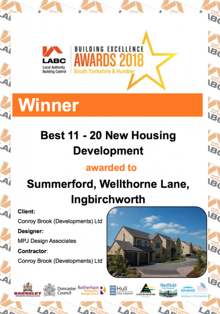 Conroy Brook SummerFord development wins LABC Building Excellence Award