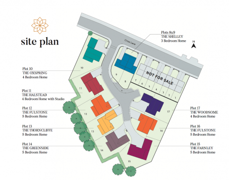 Site plan showing new homes in Stocksmoor.