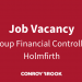 Job Vacancy - Group Financial Controller, Holmfirth