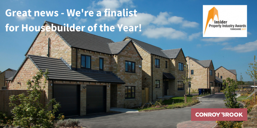 Conroy Brook shortlisted for Housebuilder of the Year